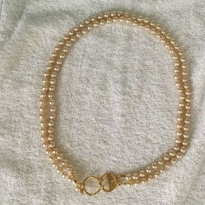 Kenneth Jay Lane Double Strand Faux Pearl Necklace